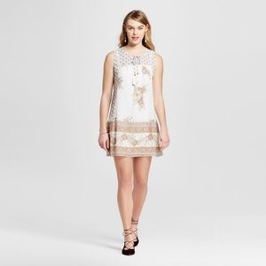 Xhilaration Dresses - Xhilaration™ Floral Drop Waist Shift Crochet Dress
